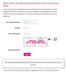 Deutsche Telekom Netzumschaltung Details
