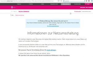 Deutsche Telekom Netzumschaltung Infos